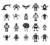 Robot icon set, simple style. Robot icon set. Simple set of robot vector icons for web design isolated on white background Royalty Free Stock Image