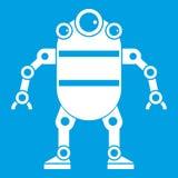 Robot icon white Stock Images