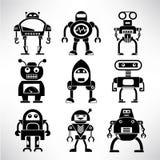 Robot icons set Stock Photo