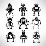 Robot icons set Stock Photography