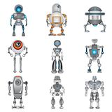 Robot icons. Set of 9 color robot icons Royalty Free Stock Images