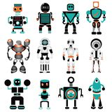 Robot icons. Set of 12 cute robot icons Royalty Free Illustration