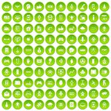 100 robot icons set green. 100 robot icons set in green circle isolated on white vectr illustration stock illustration