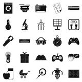 Robot icons set, simple style. Robot icons set. Simple set of 25 robot icons for web isolated on white background Royalty Free Stock Photography
