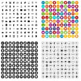100 robot icons set vector variant. 100 robot icons set vector in 4 variant for any web design isolated on white Royalty Free Stock Photos