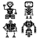 Robot icons vector set. Artificial intelligence Royalty Free Stock Image