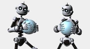 Robot idiot illustration libre de droits