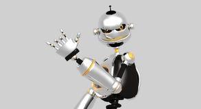 Robot idiot fâché illustration stock