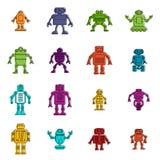 Robot ikon doodle set Zdjęcie Royalty Free