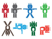 Robot ikony ilustracja wektor