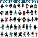 Robot ikony Fotografia Royalty Free