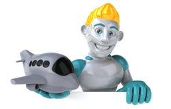 Robot - illustration 3D stock illustrationer