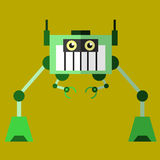 Robot illustration 02 flat design view Royalty Free Stock Photos