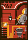 Robot ilustracja Obraz Stock