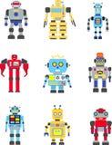 Robot impostati Fotografia Stock