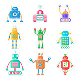 Robot impostati Fotografie Stock Libere da Diritti