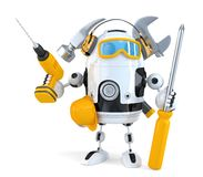 Robot - industrial worker concept. . Contains clipping path vector illustration