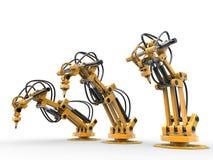 Robot industriali Fotografie Stock Libere da Diritti