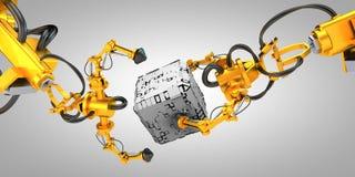 Robot industriali Immagine Stock Libera da Diritti
