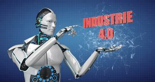 Robot Industrie 4.0 Royalty Free Stock Images