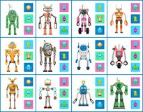 Robot Industry Collection, Vector Illustrations Royalty Free Stock Photo