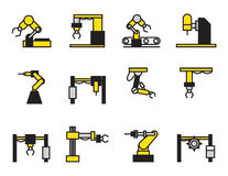 Robot industry icons set Stock Image
