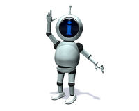 Robot Info Immagini Stock Libere da Diritti