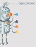 Robot infographic ontwerp, eps10 Royalty-vrije Stock Foto's