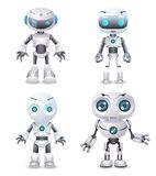 Robot innovation technology science fiction future cute little 3d design vector illustration. Robot innovation technology science future fiction cute little 3d Royalty Free Stock Photo
