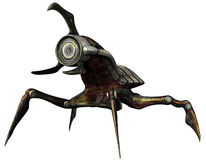 Robot insect creature. 3D render of a robot insect creature stock illustration