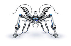 Robot-insect. An illustration of a fantastic battle robot-insect. Contains gradients, transparent object, clipping and opacity masks Royalty Free Stock Photo