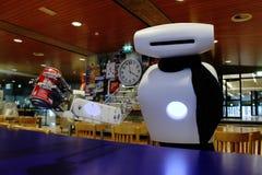 Robot Joost che prende un coke Fotografia Stock Libera da Diritti