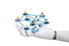 Robot joying social networking technologies medias royalty free stock image