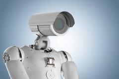 Robot kamera bezpieczeństwa ilustracja wektor