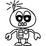 Robot kids coloring page Royalty Free Stock Images