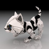 Robot Kitten, Crouching Stock Photos