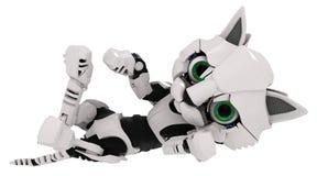 Robot Kitten, On Back Stock Photo