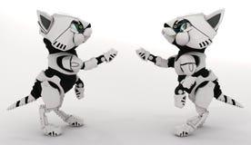Robot Kitten Pair Stock Photos