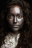 Robot kobiet twarz Fotografia Royalty Free