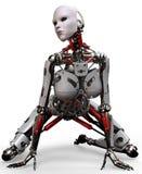 Robot kobieta crocked Zdjęcia Stock