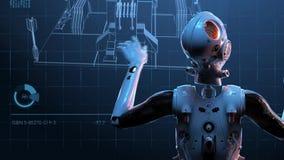 Robot kobieta, fantastyka naukowa kobieta ilustracja wektor
