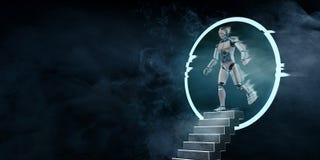 Robot l'altra dimensione illustrazione di stock