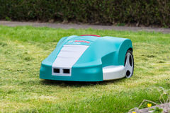 Robot Lawnmower Stock Image