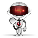 Robot lekarka z stetoskopem Ilustracja Wektor