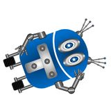 Robot lindo de reclinación libre illustration