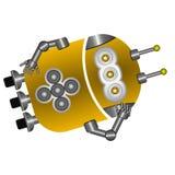 Robot lindo de reclinación stock de ilustración