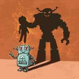 Robot lindo del mentiroso Fotografía de archivo libre de regalías