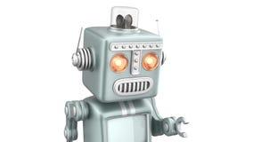 Robot lindo del vintage que corre hacia ilustración del vector