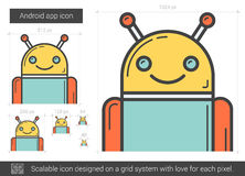 Robot line icon. Royalty Free Stock Photos