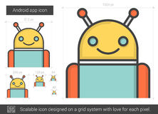 Robot line icon. Stock Images